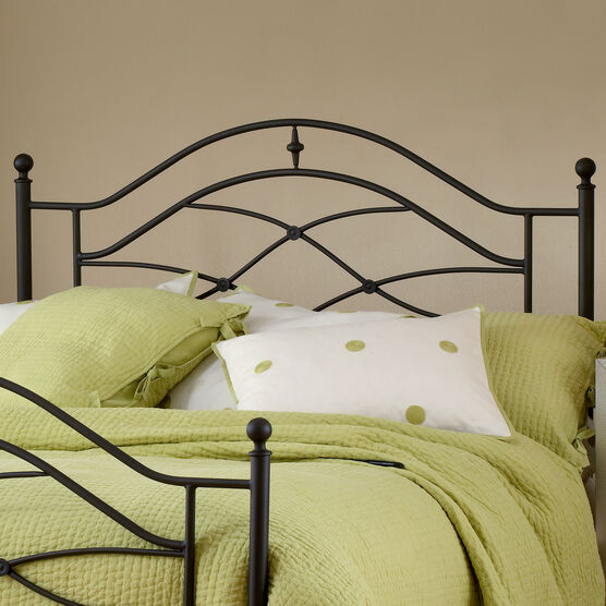 "Twin Headboard with Headboard Frame, 63½""Lx41""Wx52""H, BLACK"