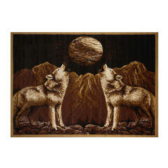 """Zone Wolves Rug, 5'2""""x7'4"""","""