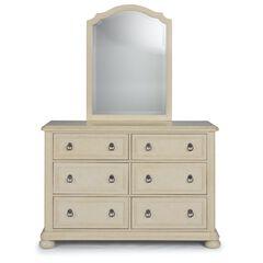 Provence White Dresser & Mirror,