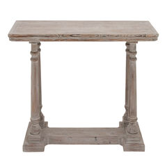 Light Brown Rustic Wood Console Table, 30 x 52,