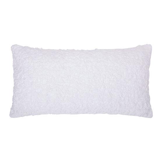 Summer Blossom Decorative Pillow, WHITE
