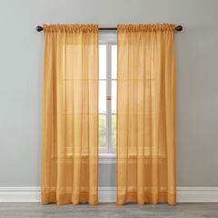 BH Studio Crushed Voile Rod-Pocket Panel, AMBER