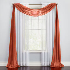 BH Studio Sheer Voile Scarf Valance,