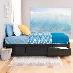 Twin XL Mate's Platform Storage Bed with 3 Drawers,
