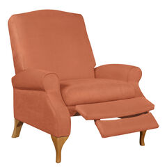 Oversized Faux Suede Push Back Recliner,