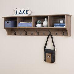 "60"" Wide Hanging Entryway Shelf,"