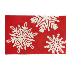 Large Rectangular Snowflake Mat ,
