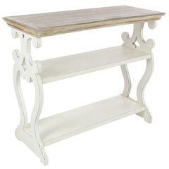 White Farmhouse Wood Console Table, 32 x 38,