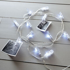 Clothespin Photo Clips with Lights,