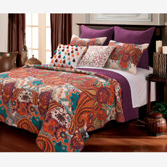 Nirvana Quilt Set by Greenland Home Fashions, SPICE