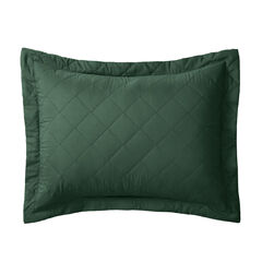 BH Studio Reversible Quilted Sham, EVERGREEN MAIZE