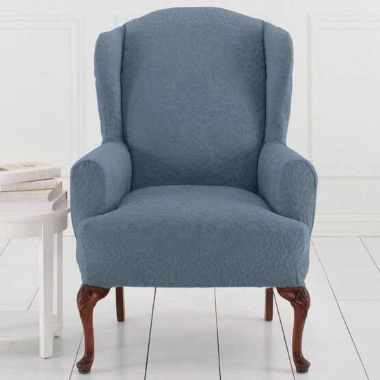 BrylaneHome® Studio Ikat Stretch Wing Chair Slipcover ,