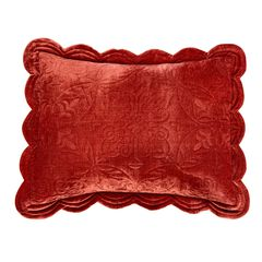 Velvet Embroidered Sham ,