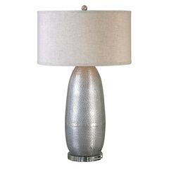 Tartaro Industrial Silver Table Lamp,
