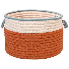 Cali Stripe Tangerine Basket,