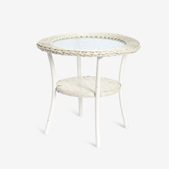 Roma All-Weather Wicker Side Table,