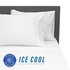 SensorPEDIC Ice Cool 400 Thread Count Cotton-Rich White Sheet Set,