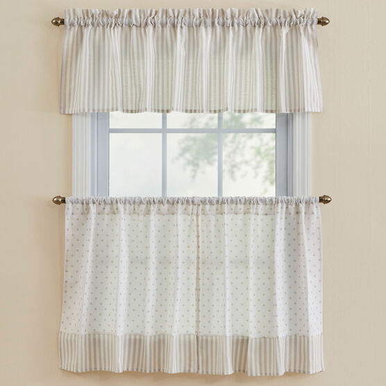 Sundae Tier Valance, NATURAL