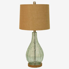 Emma Embossed Lamp, BLUE