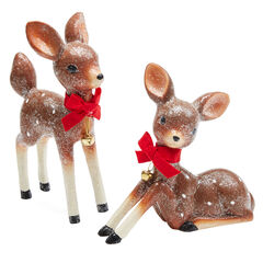 Retro Glitter Reindeer, Set of 2,