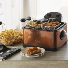 Triple Basket Deep Fryer, COPPER