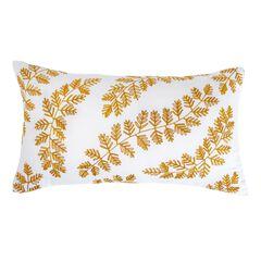 Paisley Embroidered Lumbar Pillow,