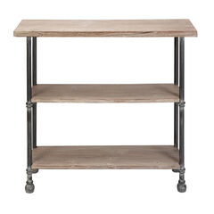 Brown Industrial Wood Console Table, 32 x 48,