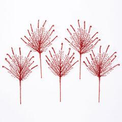 "18"" Shimmer Fern Tree Picks, Set of 5,"