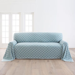 Ogee Knitted Sofa Cover,