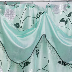 Shower Curtain with Attached Valance, 72'x70',