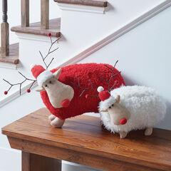 Plush Red Reindeer,