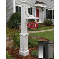 Woodhaven Address Sign Post, BLACK