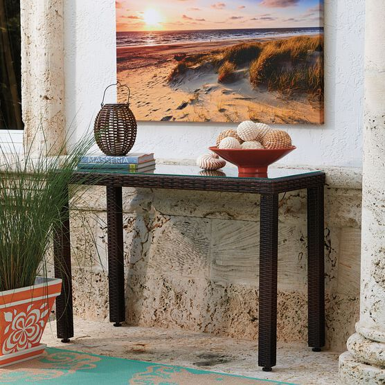 Santiago Console Table, BROWN