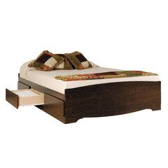 Prepac Fremont Espresso Double Platform Storage Bed (6-drawers),
