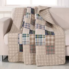 Greenland Home Fashions Oxford Quilted Patchwork Throw Blanket, MULTI