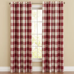 Courtyard Plaid Grommet Panel,