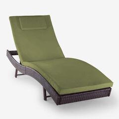 Santiago Chaise Lounge, BROWN GREEN
