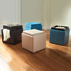 Storage Ottoman with Tray,