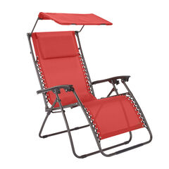 Zero Gravity Chair With Pillow And Canopy, GERANIUM