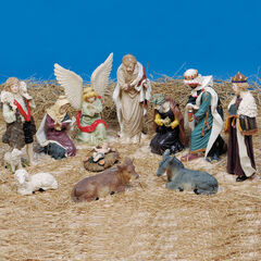 11-Pc Nativity Figures,