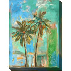 Modern Palms #2 Outdoor Wall Art,