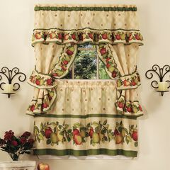 Apple Orchard Cottage Window Curtain Set,