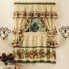 Apple Orchard Cottage Window Curtain Set, ANTIQUE