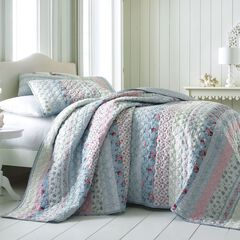 Claudine Floral Printed Bedspread Collection,