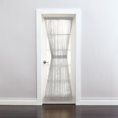 BH Studio Sheer Voile Door Panel With Tiebacks, SILVER