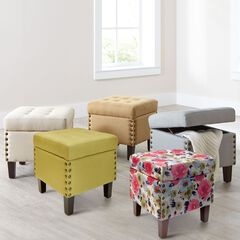 Vienna Tufted Ottoman Storage Bench,