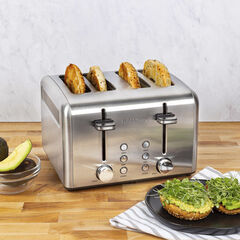 Kalorik 4-Slice Toaster, Stainless Steel,