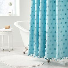 Dot Cotton Tufted Shower Curtain,