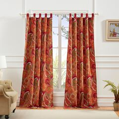 Tivoli Cinnamon Curtain Panel Pair ,