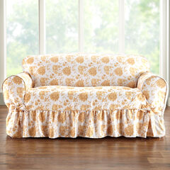 Loveseat Slipcover, NATURAL FLORAL
